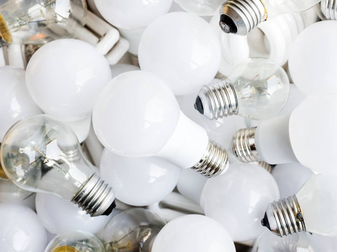 A pile of lightbulbs.